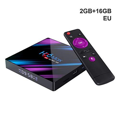 Yalatan Quad-Core-TV-Box für Android 9.0, 4K Ultra HD 2,4G / 5G Dual Band 2 16 GB / 4 32 GB / 4 64 GB Media Player (EU-Stecker Standard)