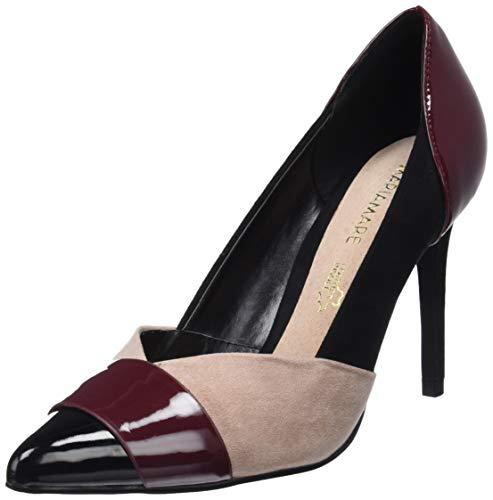 61e01917324 Mariamare 62383, Zapatos de tacón con Punta Cerrada para Mujer, Rojo (Napi  Burdeos