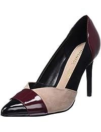 Amazon.es  zapatos burdeos mujer - Zapatos de tacón   Zapatos para ... e08a1d2bc0da