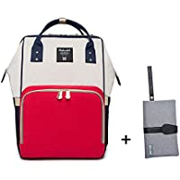 Nappy Bag Backpack Diaper Changing Bags Large Capacity Baby for Mom Daddy, Multi-functional with waterproof fabric by YAAGLE