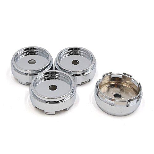 sourcingmap 4 Pcs Chrome Ton Argent 66mm Diamètre 5 Lugs centre roue cache moyeu PAC pour voiture