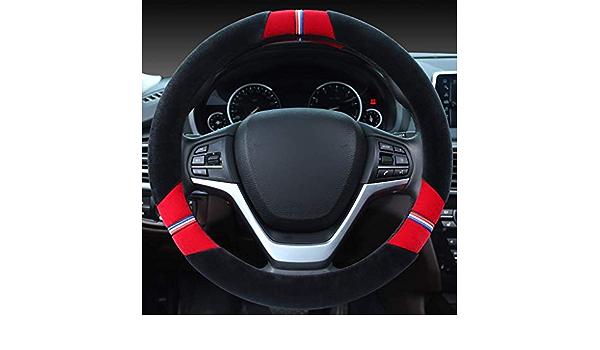 Logo de volant de voiture d/écoration bague ext/érieure Bleu garniture de couverture de bague de volant de voiture pour 6 7 B7