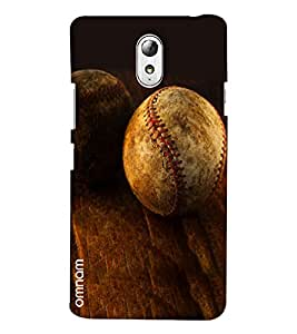 Omnam Leather Ball Lying On Woods Designer Back Cover Case For Lenovo Vibe P1 M