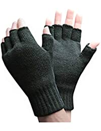 HEAT HOLDERS - Hombre Invierno Confortables Calientes 3.2 TOG Térmico Respirable Guantes sin dedos (Fingerless)