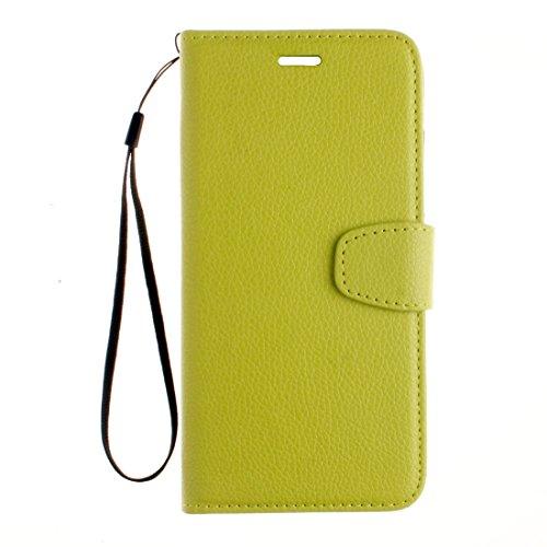 iPhone Case Cover Pour iPhone 7 Plus Litchi texture horizontale Flip PU étui en cuir avec porte-cartes et fentes et porte-monnaie et cordon et cadre photo ( Color : Blue ) Matcha
