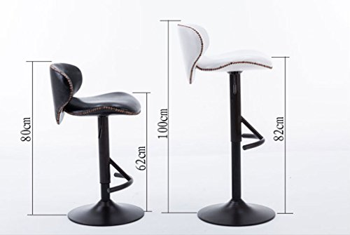 360 ° rotation lift bar chair per le dimensioni dello sgabello dello