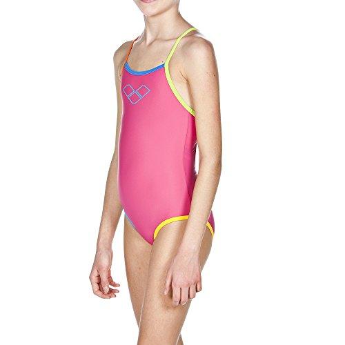 arena Mädchen Sport Badeanzug Spray, Fresia Rose/Multi, 140 Preisvergleich