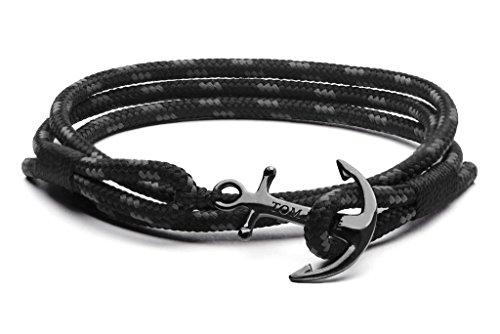 Tom Hope Triple Black L Armband (Lengte: 19.50-21.00 cm) TM0133