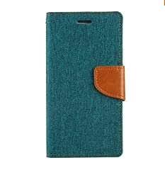 Stylish Luxury Canvas Magnetic Lock Diary Wallet Style Flip Cover Case For Acer Liquid Zest 4G (Green)