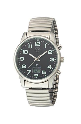 Master Time Funk Quarz Herren Uhr Analog-Digital mit Edelstahl Armband MTGS-10437-22M