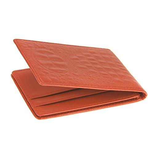FakeFace Unisex Krokodil Optik Führerscheinetui Ausweisetui Ausweistasche Wallet Ultra Dünn Kreditkartenetui Geldbörse Geldbeutel Ausweishalter (Pink) Orange