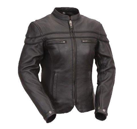 Australian Bikers Gear  - Sturgis Tour - Damen Motorrad-Lederjacke - Protektoren - Größe 36 ( S )