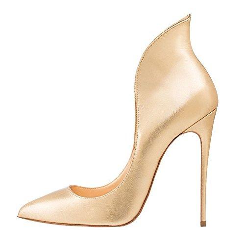 EKS Damen Atumob Stilettos High Heels Pointed Toe Pumps