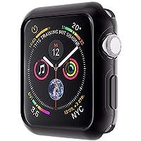 moodie Apple Watch 4 Armor Hülle Schwarz (44mm) Silikon Case Cover Bumper Silikonhülle Schutzhülle für Apple Watch 4-44mm