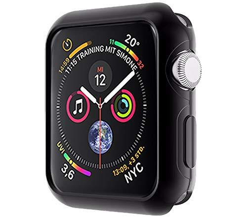 moodie Silikonhülle für Apple Watch 4 Armor Hülle in Schwarz (44 mm) - Case Schutzhülle Tasche für Apple Watch 4 (44mm) Apple Home Case