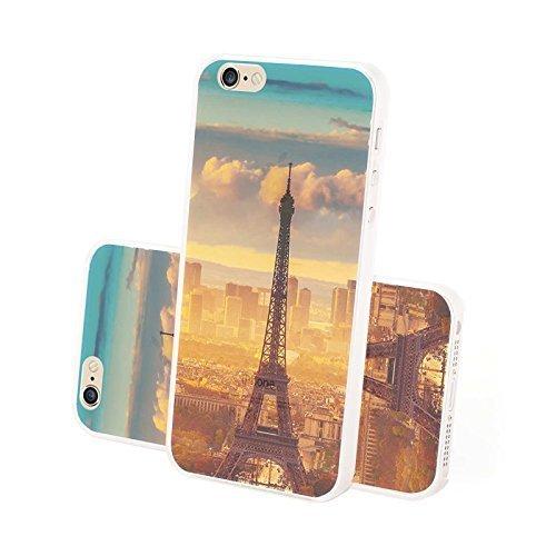 FINOO ® | Iphone 5 / 5S Hardcase Handy-Hülle | Transparente Hart-Back Cover Schale mit Motiv Muster | Tasche Case mit Ultra Slim R&um-schutz | stoßfestes dünnes Bumper Etui | Eifelturm