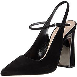 SebastianS7395 - Zapatos con correa de tobillo Mujer , color negro, talla 38