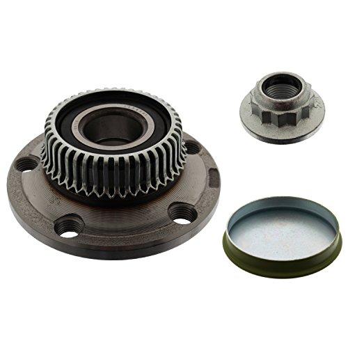 febi bilstein 24236 Radlagersatz mit ABS-Impulsring, Achsmutter und Schutzkappe (Hinterachse beidseitig) Radlager, 1 Stück