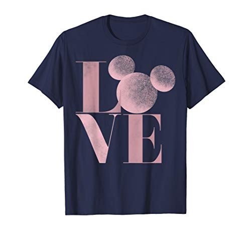 Disney Mickey Mouse Love Air Brush Letters Graphic T-Shirt -