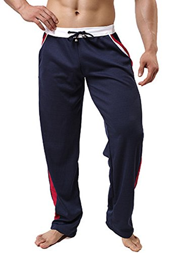 Men's Casual Leisure Homewear Trousers Royalblue