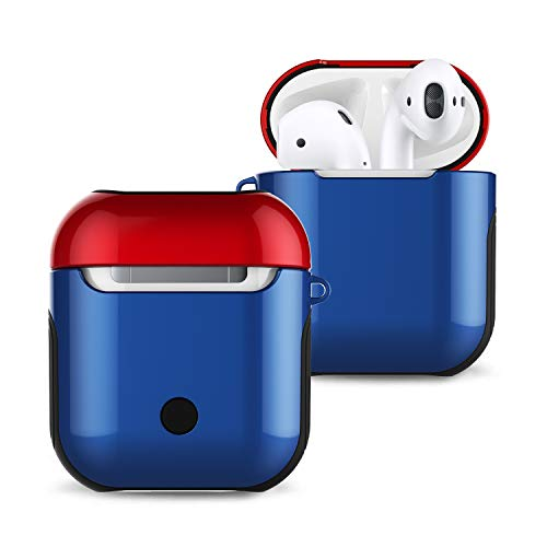 1. Gen Fall (Wubaouk Compatible AirPods Case, Dual Layer Shockproof Anti-Fall Protection for 1st gen Airpods Apple Airpods Charging Case)