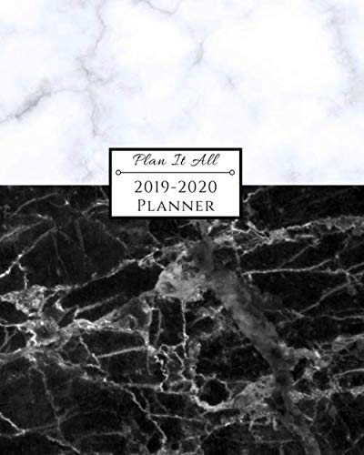 2019-2020 Planner: 16-Month Weekly and Monthly Planner/Calendar Sept 2019-Dec 2020 White and Black Marble