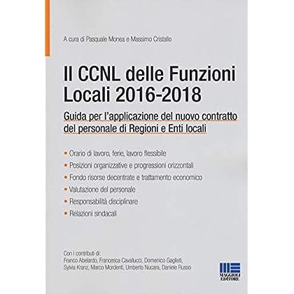 Il Ccnl Delle Funzioni Locali 2016-2018
