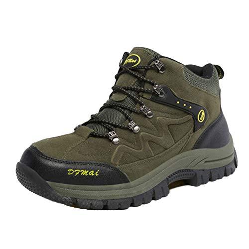 Scarpe da Trekking Escursionismo Unisex Outdoor Resistente all'Acqua Antiscivolo All'Aperto Sneakers Invia Calze Esercito Verde 39 EU