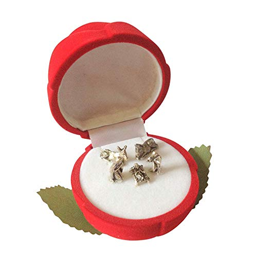 Tasche-Krippe-Krippe in rotem Samt Rosa Geschenkbox Jesus Mary Joseph Xm...