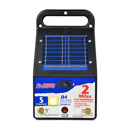 Woodstream Europe Limited Fi 2Mile solarbetrieben niedrige Impedanz Pet Abschreckung Zaun Energizer esp2m-fs (Solar Elektrozaun-ladegerät)