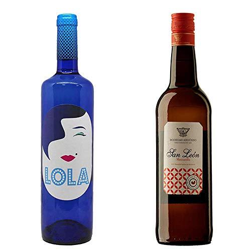 Lola Blanco Semidulce Y Manzanilla San León - D. O. Campo De Borja Y Manzanilla De Sanlúcar De Barrameda - 2 Botellas De 750 Ml