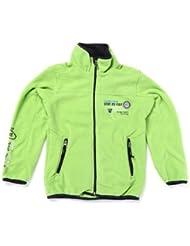 Vent du cap - chaqueta de paño grueso y suave niño ECOPA1016-verde-16 años