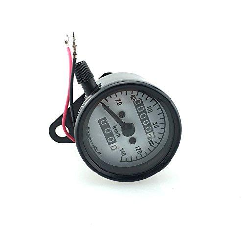 MagiDeal Motorrad LCD Digital Tacho Tachometer Drehzahlmesser Geschwindigkeitsmesser Mechanische Kilometerzähler