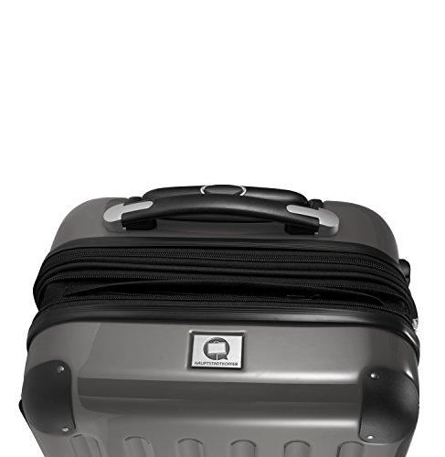 HAUPTSTADTKOFFER - Alex - Handgepäck Hartschalen-Trolley Bordgepäck Kabinentrolley Erweiterbar, Laptop, TSA, Doppelrollen, 55 cm, 42 Liter, Titan - 3