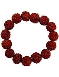 Mens Fashion Religious Jewellery Brown Unisex Panch Mukhi Rudraksha Bracelet