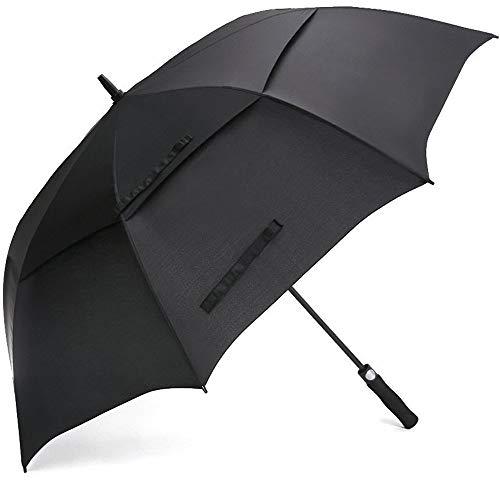 Arthas Automatischer Golf-Regenschirm mit 62/68 in extra großem Doppelüberdachung, belüftet, Winddicht, wasserdicht, Stockschirme für Männer und Frauen, Unisex, schwarz, 62 Inch - Golf-zubehör Adidas