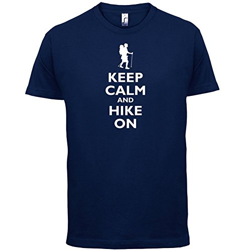 Keep Calm and Hike On - Herren T-Shirt - 13 Farben Navy