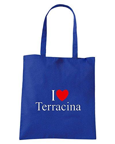 T-Shirtshock - Borsa Shopping TLOVE0134 i love heart terracina Blu Royal