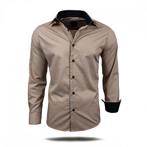 Herren Hemd Hemden Business Hochzeit Freizeit Slim Fit Bügelleicht S M L XL  XXL, Größe L 296c1ed354