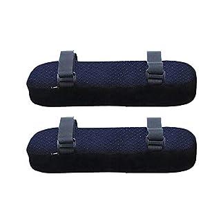 Armlehnen Polster, ergonomische Memory Foam Bürostuhl Armlehne Pads, Comfy Universal Gaming Chair Armlehne Abdeckungen für Ellbogen und Unterarme Druckentlastung - 1 Paar