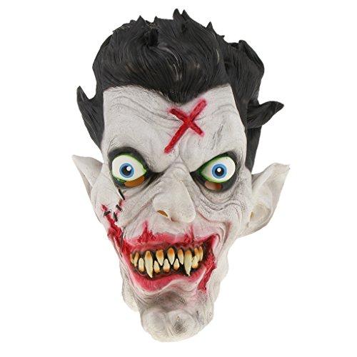 MagiDeal Halloween Horror Maske Latexmaske Gesichtsmaske Clown/Hexe Maske Zombiemaske Kostüm Accessoires auch für Cosplay Karneval und Themenparty - Herr Zombie