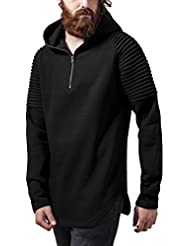 Urban Classics Herren Kapuzenpullover Pleat Sleeves Terry Hoody