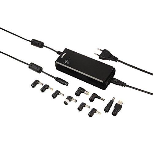 Hama Universal Netzteil mit einstellbarer Ausgangsspannung (12-22 Volt, 90 Watt) inkl. 10 Adaptern, schwarz (Toshiba-laptop-energie-adapter)