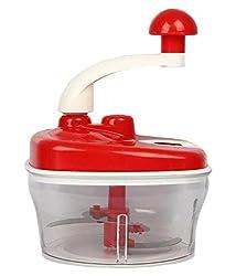 Blue Birds Manual Food Processor - Chopper, Blender, Atta Maker, Dough Kneader,14 Pieces RED