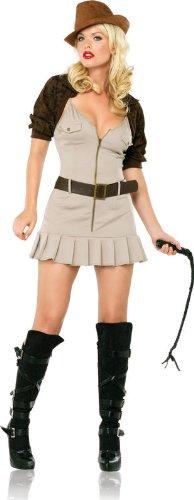 Leg Avenue - Adventure Annie Kostüm 4-teilig - SM - Braun - 83493