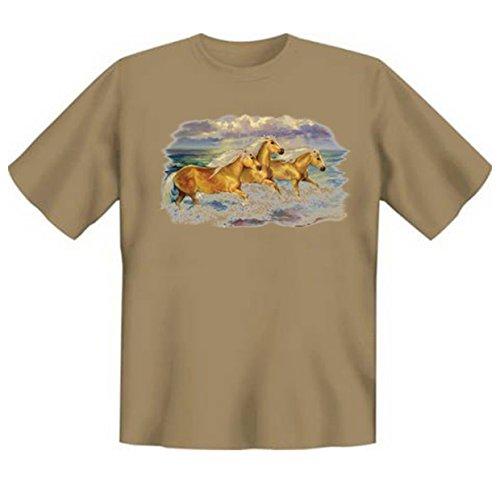 Faszination Pferde Tshirt Fantasea Ponies Gr XXL in sand / dunkles beige