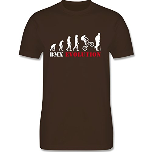 Shirtracer Evolution - BMX Evolution - Herren T-Shirt Rundhals Braun