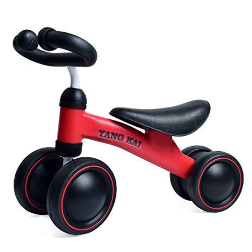 Jo332Bertram Kinder Laufrad 1-3 Jahre, Balance Fahrrad Lauffahrrad Baby Lernlaufrad Erstes Fahrrad, Rot
