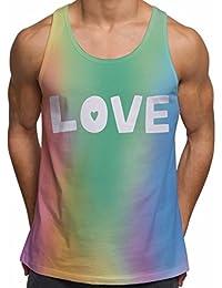 Vests d'entraînement de gym pour Hommes Débardeur imprimé Fierté Homosexuel d'Amour d'Arc-en-ciel Vêtements de vacances