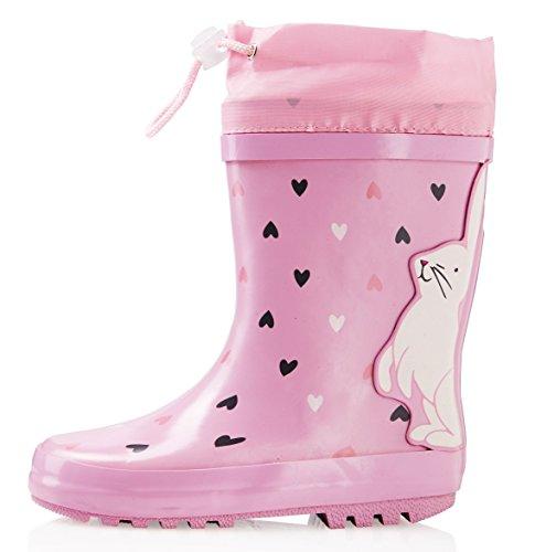 Bunny Schuhe Kinder (smileBaby Gummistiefel Pink / Hase 22 /)